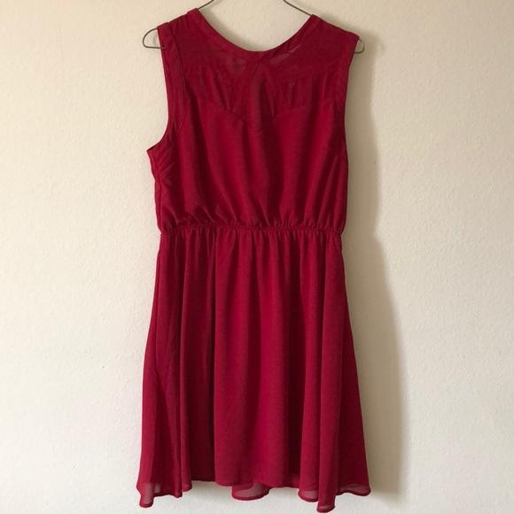 Monteau Dresses & Skirts - Red a-line dress